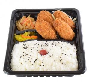 カキフライ弁当 480円(税込み518円)